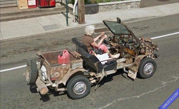 Google Street View: Senora steampunk