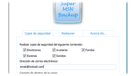 super msn backup
