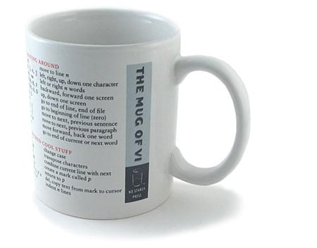 taza cafe coffe mug vi vim perl reference