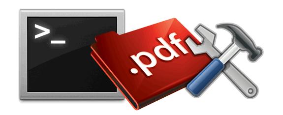 Comandos de terminal para manipular ficheros PDF