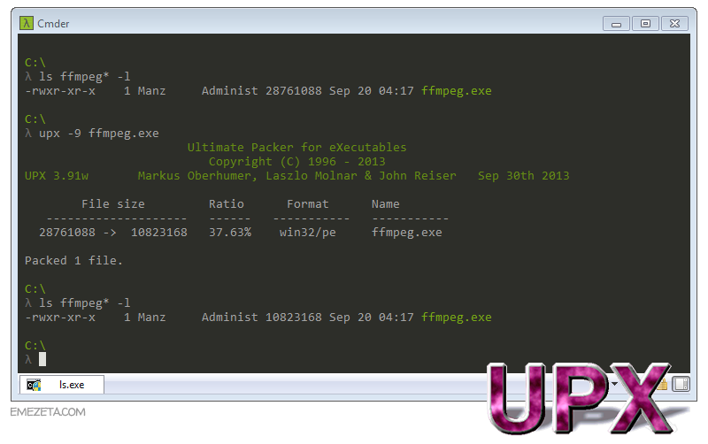 UPX: Ultimate Packer eXecutable