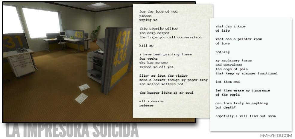 La impresora suicida