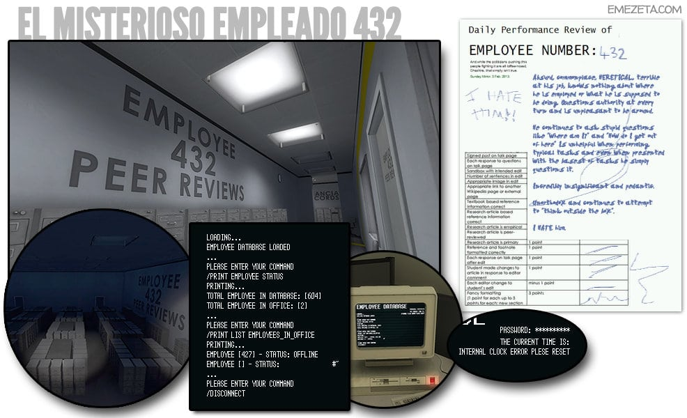 El misterioso empleado 432 de The Stanley Parable