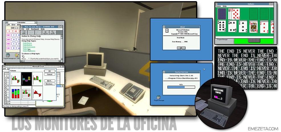 Monitores de las oficinas