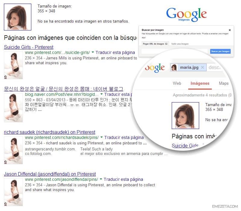 Búsqueda inversa en Google Imágenes: Suicide Girls