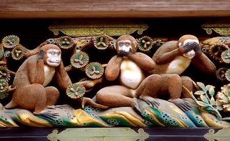 tres monos misticos sabios