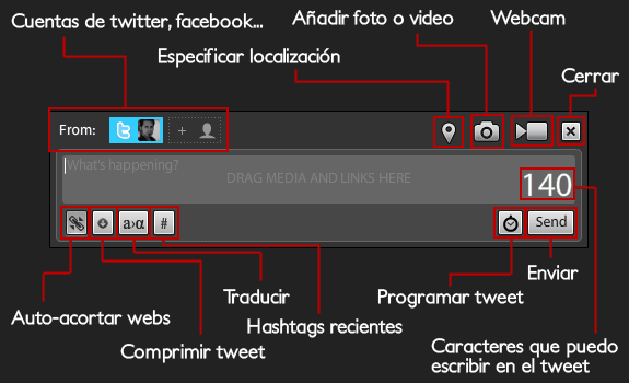 tweetdeck escribir tweet