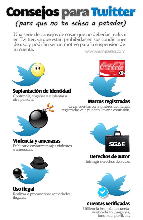 Infografía: Consejos y normas de Twitter. Parte 1.