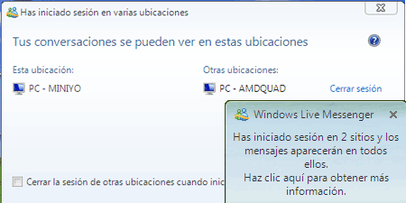 varias ubicaciones msn messenger msn windows live