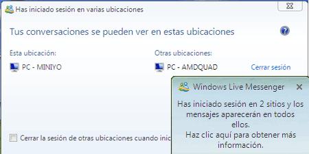 varias ubicaciones msn messenger msn windows live