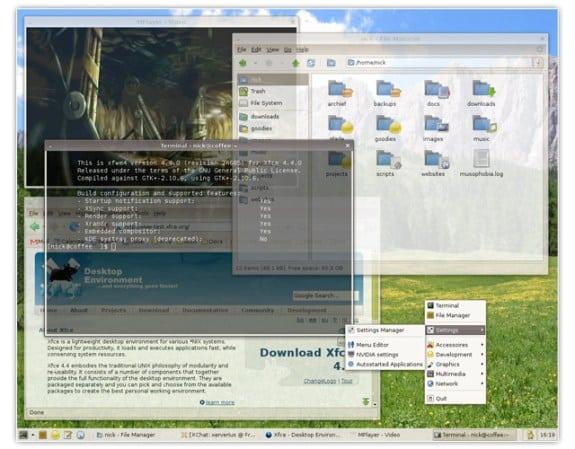 gestor de ventanas linux xfwm xfce