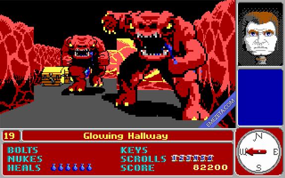 Shooters (FPS): Catacomb 3D (El padre de Wolfenstein 3D)