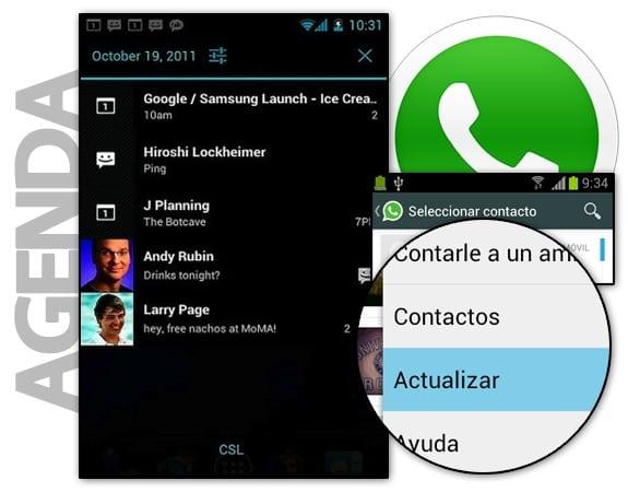 WhatsApp: Contactos desde la agenda