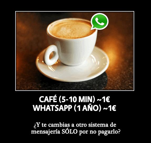 Un café = 1 año de WhatsApp