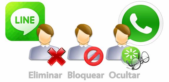 Eliminar, bloquear u ocultar contactos en WhatsApp o LINE