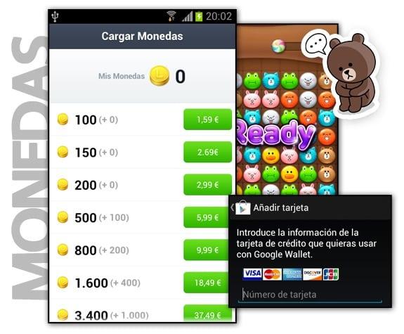 Monedas para comprar stickers en LINE
