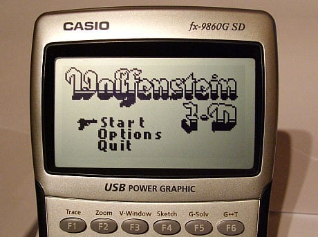wolfenstein 3d calculadora casio 9860g