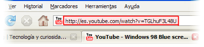 youtube direccion video address