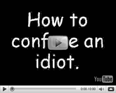youtube confundir idiota video