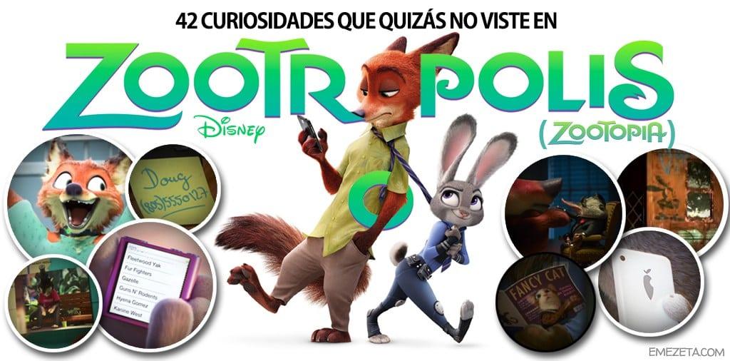 Zootrópolis 42 Curiosidades Que Quizás No Viste Emezetacom