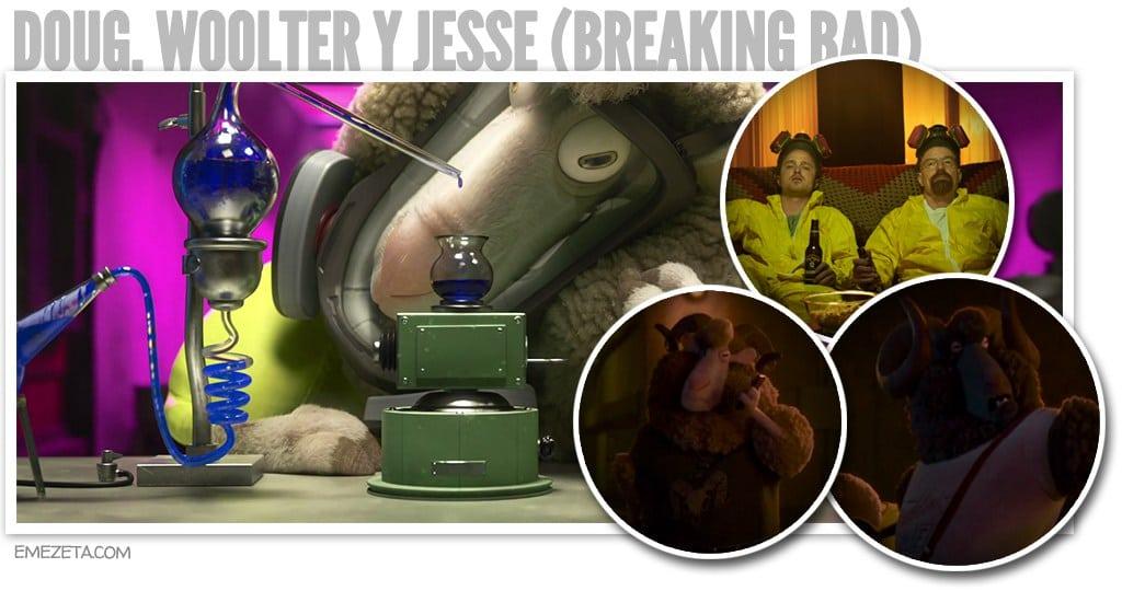 Doug, Woolter y Jesse, Breaking Bad en Zootrópolis