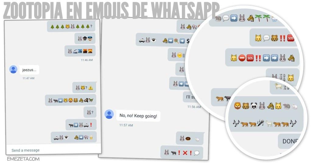 Zootrópolis en emojis de WhatsApp